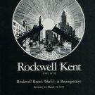 Rockwell Kent Retrospective Vintage 1977 Art Exhibition Ad Rockwell Kent's World
