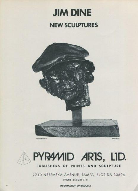 1976 Jim Dine Kitaj's Portrait Vintage 1976 Art Ad Advertisement