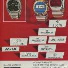 SGT Societe Des Garde-Temps SA Vintage 1975 Swiss Ad Suisse Advert Horlogerie