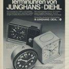 1975 Junghans Clock Company Diehl Clock Company Vintage 1975 Swiss Ad Suisse Advert