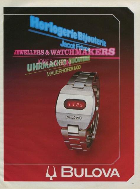 Bulova Watch Company Vintage 1975 Swiss Ad Suise Advert Horlogerie Horology