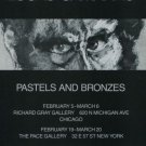 Lucas Samaras Pastels and Bronzes 1982 Art Exhibition Ad Advert Richard Gray Gallery Pace Gallery