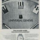 1972 Universal Geneve Watch Company Switzerland Vintage 1972 Swiss Ad Suisse Advert