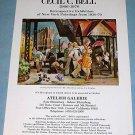 Cecil C. Bell Vintage 1976 Retrospective Art Exhibition Ad Advert