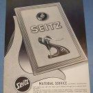 1955 Seitz Watch Supply Company Switzerland Vintage 1955 Swiss Ad Suisse Advert Horology