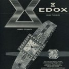 Edox Watch Company Era Watch Company Vintage 1967 Swiss Ad Suisse Advert