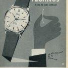 1958 Technos Watch Company Vintage 1958 Swiss Ad Suisse Advert Gunzinger Brothers Switzerland