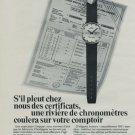 1971 Mido Watch Company Switzerland Vintage 1971 Swiss Ad Suisse Advert G Schaeren Horology