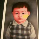 Zhang Xiaogang Baby Girl with Pink Face Art Ad Advertisement