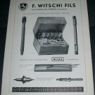 1956 F Witschi Fils Watch Parts Company 1956 Swiss Ad Suisse Advert Horlogerie Horology