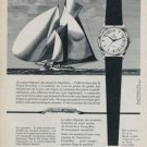 Cyma Watch Company Navystar 1959 Swiss Ad Suisse Advert Horology Horlogerie