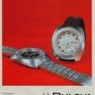 Bulova Watch Company Switzerland Accutron Vintage 1971 Swiss Ad Suisse Advert