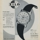 1957 Zila Watch Company 40th Anniversary Vintage 1957 Swiss Ad Suisse Advert Switzerland Horology