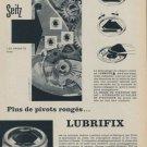 1958 Seitz Lubrifix Company Switzerland Vintage 1958 Swiss Ad Suisse Advert Horology