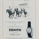 1956 Zenith Watch Company Switzerland 1956 Swiss Ad Suisse Advert Horlogerie Horology