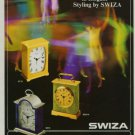 Swiza Clock Company Switzerland 1971 Swiss Ad Suisse Advert Horlogerie Horology