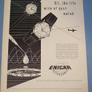 1955 Enicar Watch Company Lengnau Biel Switzerland 1955 Swiss Ad Suisse Advert