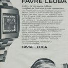 1972 Favre-Leuba Watch Company Sea Raider Advert Vintage 1972 Swiss Ad Suisse Advert