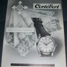 Cortebert Watch Company Switzerland 1956 Swiss Ad Suisse Advert Horlogerie