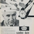 1957 Sandoz Watch Company Switzerland 1957 Swiss Ad Suisse Advert Henri Sandoz & Fils