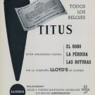 1956 Titus Watch Company Switzerland Vintage 1956 Swiss Ad Suisse Advert Horlogerie Horology