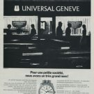 1971 Universal Geneve Watch Company Switzerland 1971 Swiss Ad Suisse Advert Horology