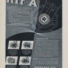 1957 KIF A Parechoc S.A. Company Vintage 1957 Swiss Ad Suisse Advert Horology Horlogerie