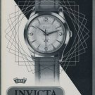 1956 Invicta Watch Company Switzerland Vintage 1956 Swiss Ad Suisse Advert Horlogerie Horology