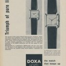 1958 Doxa Watch Company Switzerland 1958 Swiss Ad Suisse Advert Horlogerie Horology
