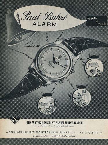 1955 Paul Buhre Watch Company Switzerland Vintage 1955 Swiss Ad Suisse Advert Horlogerie