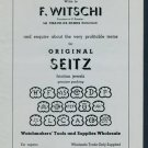 1950 F. Witschi Watch Tools Parts Company 1950 Swiss Ad Suisse Advert Horology