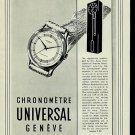 1950 Universal Geneve Watch Company Geneva Switzerland 1950 Swiss Ad Suisse