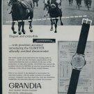 1957 Grandia Watch Company Switzerland Vintage 1957 Swiss Ad Jean Grandy Suisse Advert