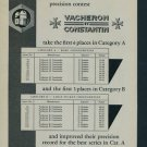 1957 Vacheron & Constantin Watch Company Vintage 1957 Swiss Ad Suisse Advert Geneva Switzerland