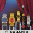 1970 Rodania Watch Company Grenchen Switzerland Vintage 1970 Swiss Ad Suisse Advert Horology