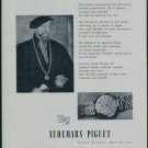 Audemars Piguet Watch Company Switzerland 1957 Swiss Ad Suisse Advert Horology