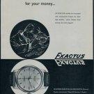 Exactus Watch Company 1957 Swiss Ad Neuchatel Switzerland Suisse Advert Horology