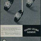1957 Favre-Leuba Watch Company Switzerland Vintage 1957 Swiss Ad Suisse Advert