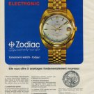 1968 Zodiac Watch Company Zodiac Spacetronic Advert Vintage 1968 Swiss Ad Suisse Advert Switzerland