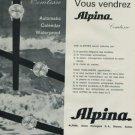 Alpina Watch Company Bienne Switzerland 1968 Swiss Ad Suisse Advert Horology