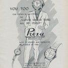 1955 Prexa Watch Company Switzerland Vintage 1955 Swiss Ad Suisse Advert Horology