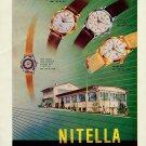 1956 Nitella Watch Company Tramelan Switzerland Vintage 1956 Swiss Ad Suisse Advert