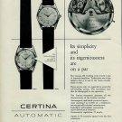 Certina Watch Company Switzerland Vintage 1956 Swiss Ad Suisse Advert
