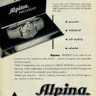 Alpina Watch Company Bienne Switzerland 1956 Swiss Ad Suisse Horlogerie