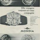 1968 Mondia Watch Company Switzerland Vintage 1968 Swiss Ad Suisse Advert Horology Horlogerie