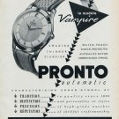 1955 Pronto Watch Company Vampire Advert Switzerland Vintage 1955 Swiss Ad Suisse Advert