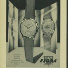 Eloga Watch Company Vintage 1957 Swiss Ad Suisse Advert Switzerland Horology
