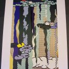 Roy Lichtenstein Water Lilies with Cloud Art Ad Advertisement