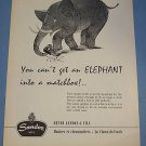 1955 Sandoz Watch Company Switzerland Vintage 1955 Swiss Suisse Advert Elephant