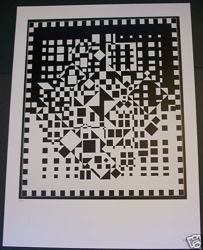Victor Vasarely IMPHY-GR Art Ad Advert Advertisement